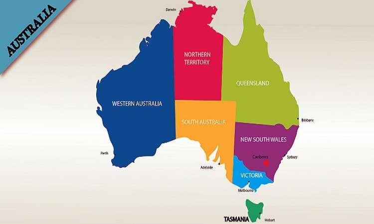 Các bang của Úc hiện nay