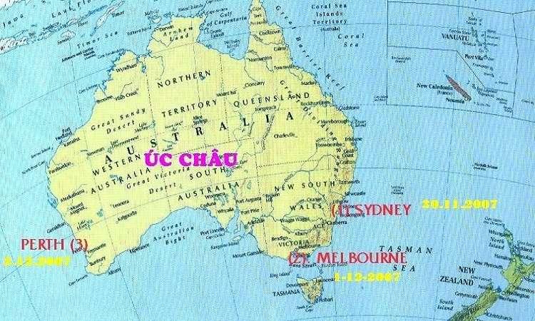 Các nước ở châu Úc