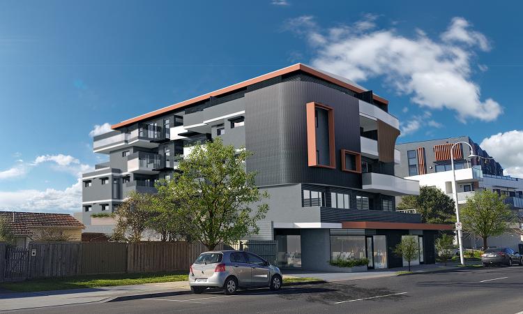 Bán nhà ở Melbourne:Bên ngoài chung cư Townhome
