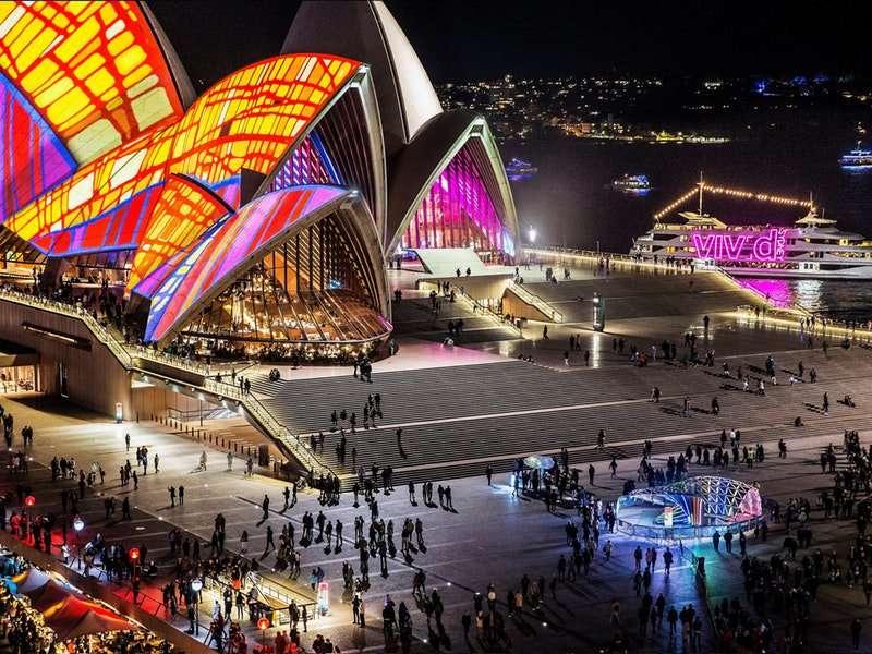 Lễ hội ánh sángVivid ở Sydney vô cùng ấn tượng