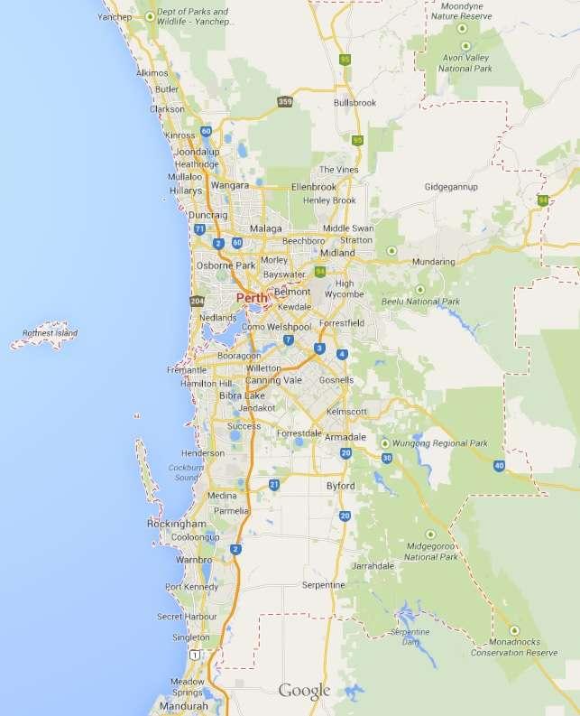 Mã bưu chính Perth Australia zip code/ Postal code từng nơi