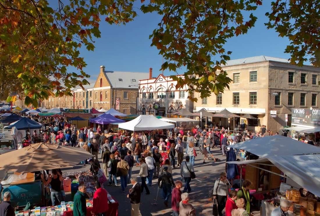 Khu Chợ Salamanca ở Hobart