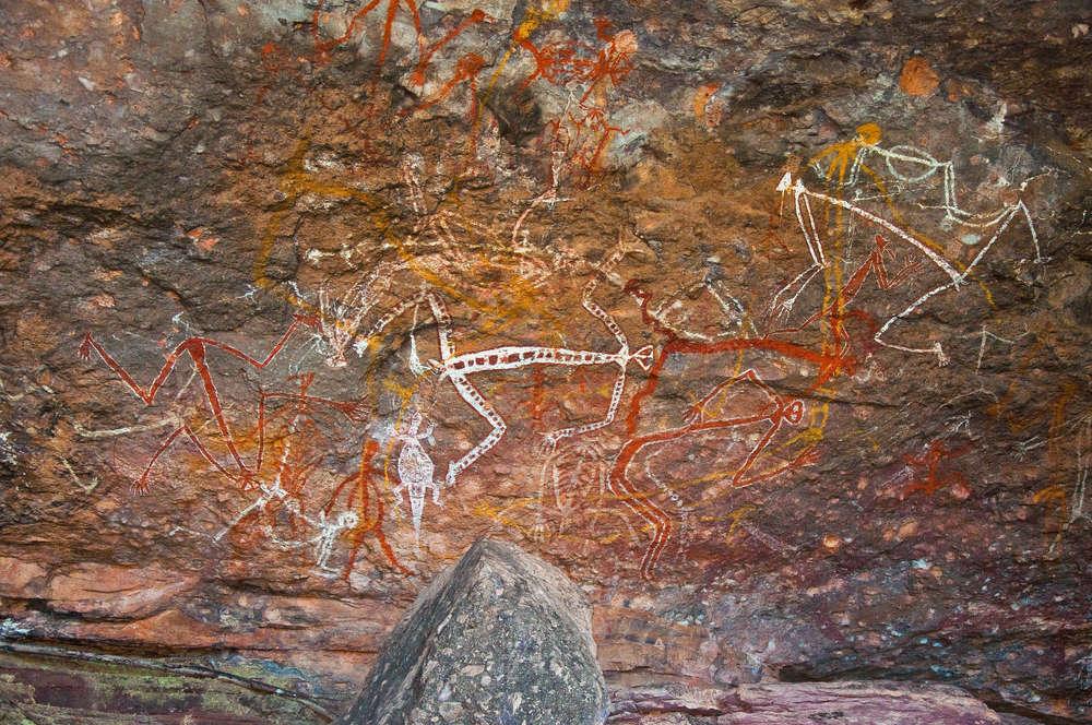 Những khối đá được thổ dânkhắc họa nhiều hình ảnh từ lâu đời