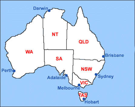 Hobart Australia map