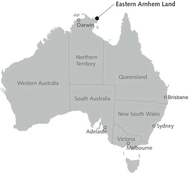 Bản đồArnhem Land Australia map
