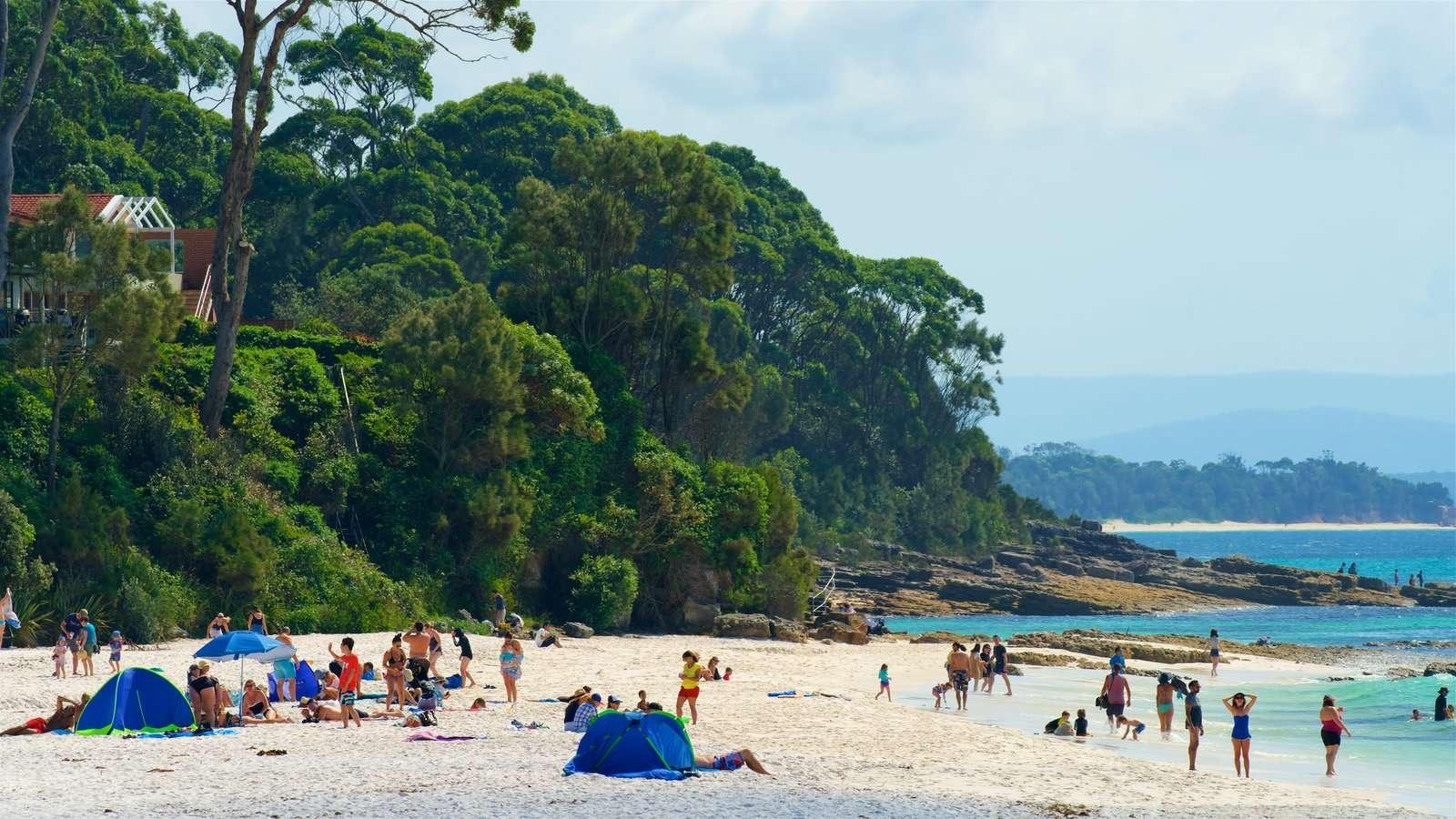 Du khách có thể tắm biển hoặc phơi nắng