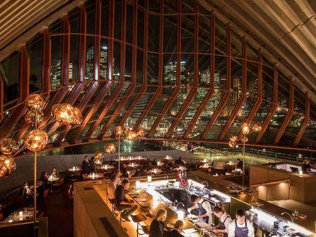 Không gian nhà hàngBennelong vô cùng lãng mạn