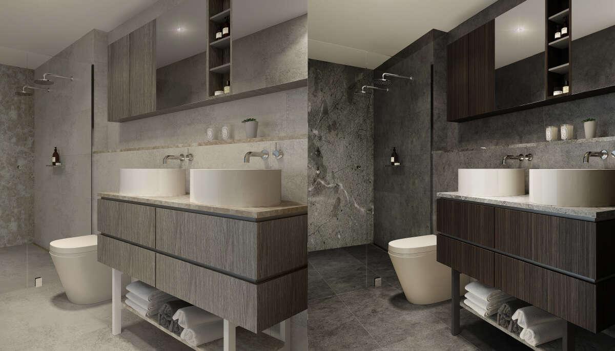 Các căn hộ có nhà vệ sinh sang trọng ấn tượng