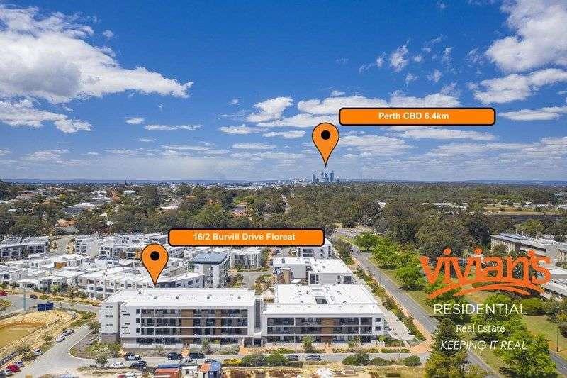 Vị trí căn hộ bang Tây Úc ngoại ô Floreat 2019 khá gần trung tâm