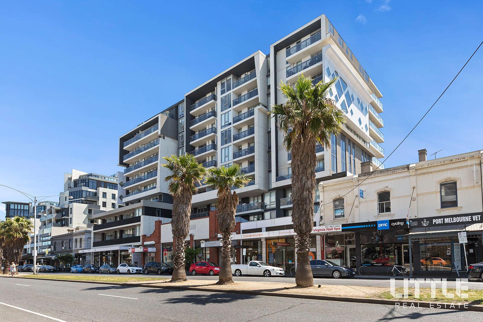 Khu căn hộở Úc ngoại ô Port Melbourne nhìn từ bên ngoài
