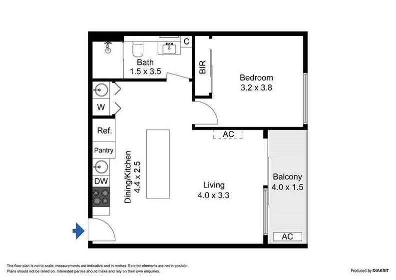 Sơ đồ mặt bằng căn hộ ở Úc vùng West Melbourne 2020