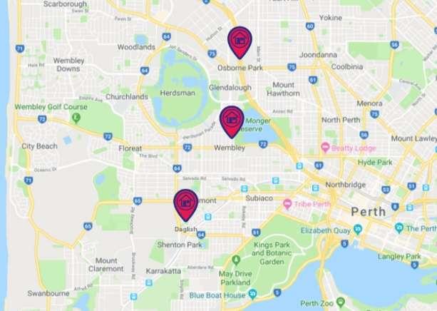 Những vùng ngoại ô Perth giá thuê rẻ nhất