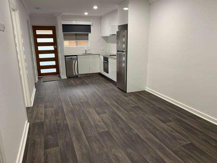 Phòng khách chung không gian với khu vực bếp