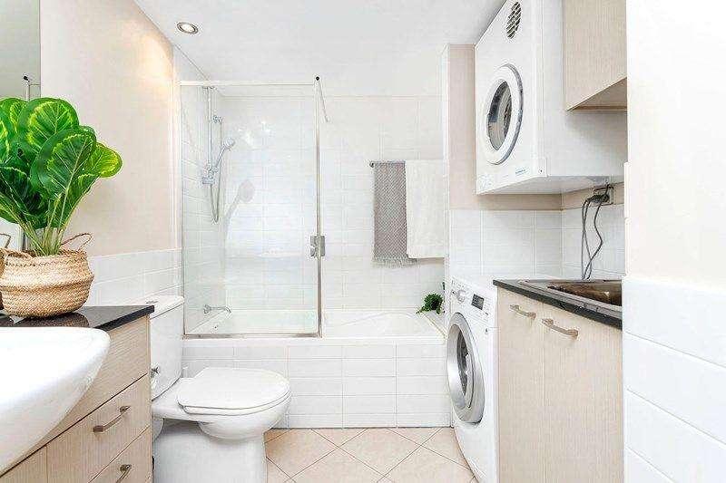 Phòng tắm kết hợp làm nơi giặt tiện lợi