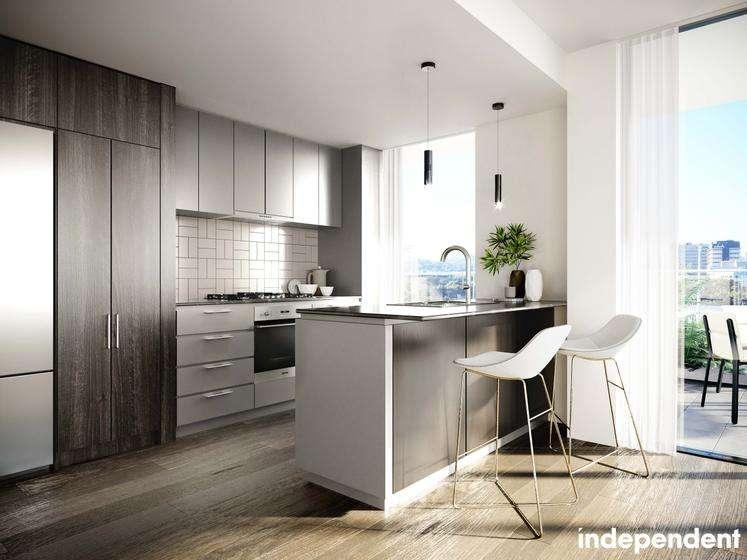 Màu sắc tủ bếp có chút thay đổi giữa các căn hộ