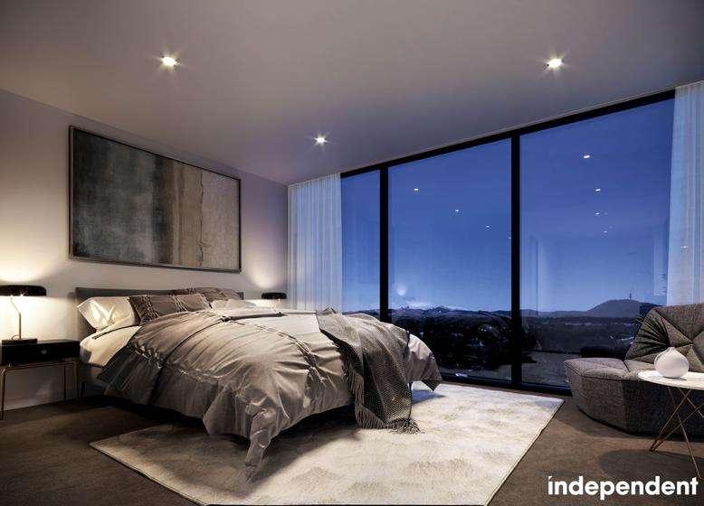 Phòng ngủ rộng thoáng ngắm nhìn ra quang cảnh bên ngoài